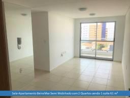 (AP0858)Apartamento Vista Mar, 2 Quartos/1 Suíte, 61m², 1 Vaga - Jardim Oceania/PB