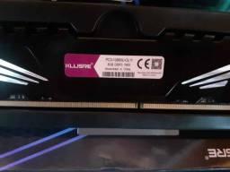Memória DDR3 8GB Kllisre 1600Mhz Novas