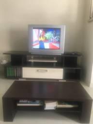 Rack para TV com mesa de centro