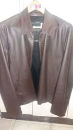 Jaqueta de couro legítimo Ellus