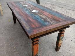 Mesa de madeira demolição 2metros já fabricada!!!