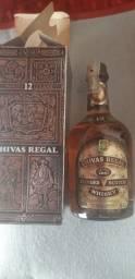 Wisky chivas regal 12 years edicao 1970 s mais d e 45 anos