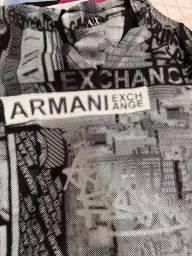 Camiseta Armani Exchange estampada