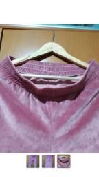 Calça de veludo Rosa tamanho M/G