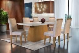 Mesa com 6 cadeiras Luna zas538