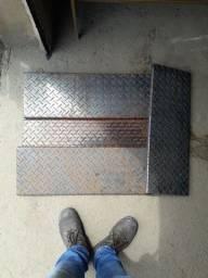 Degraus para escada de ferro chapa 1/8 ou 3mm
