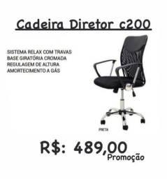 Cadeira para diretoria regulavel e sistema relax com travas