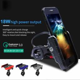 Suporte Celular para Moto Usb Carregamento Rápido Interruptor Alta Qualidade