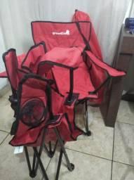 Cadeira camping dobravel gardenlife com bolça transporte