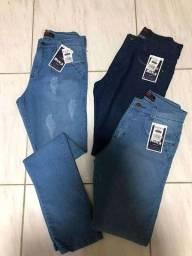 Calça jeans masculina com Lycra