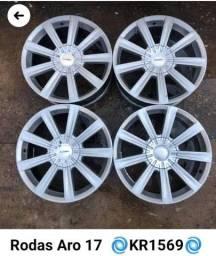 Vendo ou troco rodas 17 multifuros
