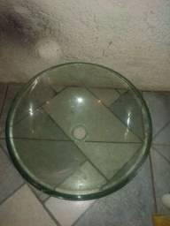 Cuba de lavatório de vidro
