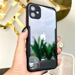 Capinha Anti Impacto Transparente Borda Preta iPhone 11 e XR