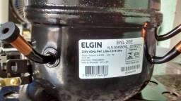 Motor compressor para purificadores Elgin 1/12 HP. Novo.