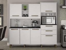 Armário de cozinha completa Sena 7 portas 2 gavetas - Branco - Entrega Grátis