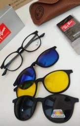 Armação para óculos de grau + 3 lentes