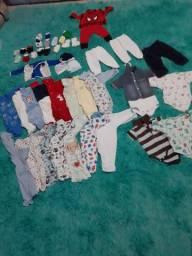 Lote bebê menino 200 reais tudo 0 a 3 meses