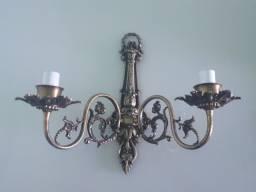 2 x Arandela/Castiçal em Bronze