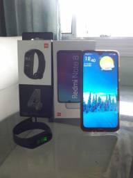 Xiaomi redmi note8 + relógio xiaomi mi Band 4