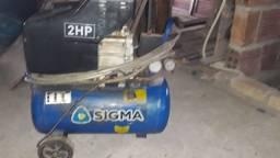Compressor de ar sigma 400 reais vende ou troca em moto ciquentinha
