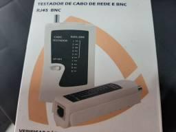 Testador de cabo de rede  RJ45 e BNC