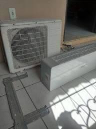 Ar condicionado BRASTEMP 9000btus frente de vidro E Serpentina de cobre.