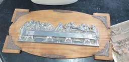 Quadro madeira com ferro