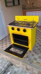 Fogão Gemini Venax 226-CR-AM Retrô 2 Bocas Amarelo