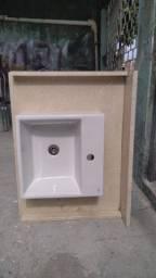 PROMOÇÃO: Pia de banheiro Travertino Nacional