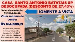 Casa Santo Antonio Batatais SP Desocupada (Desconto De 27,43%)