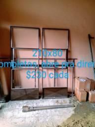 Portas, janelas, portão e porta de aço