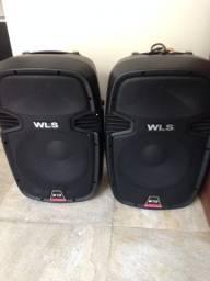 Conjunto SW de caixas de som WLS W12 ativa e passiva