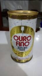 Lata de cerveja Colecionador - Ouro Fino Export Beer