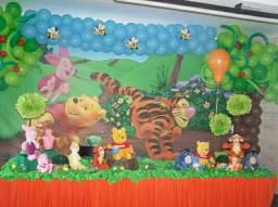 Painel de lona Tema Ursinho Pooh