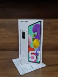 """Galaxy A51 128GB, Tela Infinita de 6.5"""",Câmera Quádrupla, Leitor Digital na Tela"""