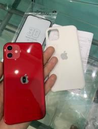 IPhone 11 Apple 64GB red lindo demais 1 semana de comprado com Nota