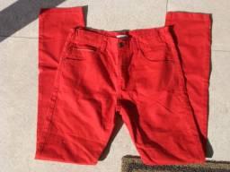 Calça vermelha Zara