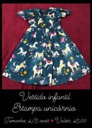 Vendo vestido unicórnio infantil