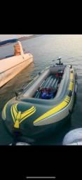 Vendo ou troco bote completo Seahawk 4 com motor e bateria
