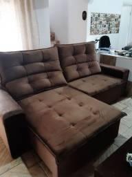 Lindo sofá retrátil  4 lugares gigante
