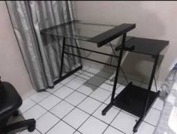 Mesa de Escritório Computador de Vidro Temperado