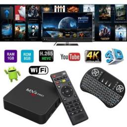 Kit Conversor De MX-Q Box T-v 4k + Teclado Led Pronta Entrega - Mxq