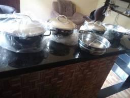 Conjunto 5 Peças de Panelas Tramontina Inox