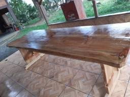 Mesa Rústica para churrasco