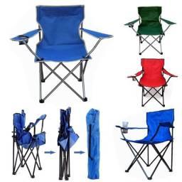 Cadeira Dobrável Praia Camping Porta Copos Pesca Bolsa