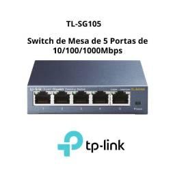 Switch de Mesa de 5 Portas de 10/100/1000Mbps TL-SG105