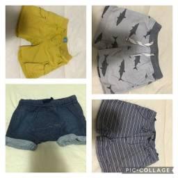 Lote shorts bebê