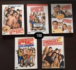 DVD Coleção American Pie 1, 2, 3, 4, 7 e 8 raros