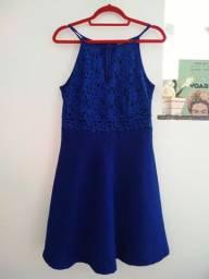 Vestido de festa médio de grife usado 1x renda convidadas aniversário