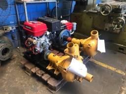 Bomba draga 4? com motor a gasolina 15 hp partida eletrica